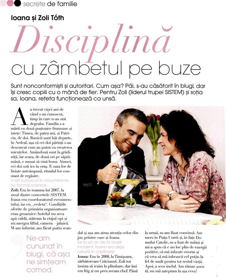 """Revista Femeia: """"Disciplina cu zambetul pe buze"""""""